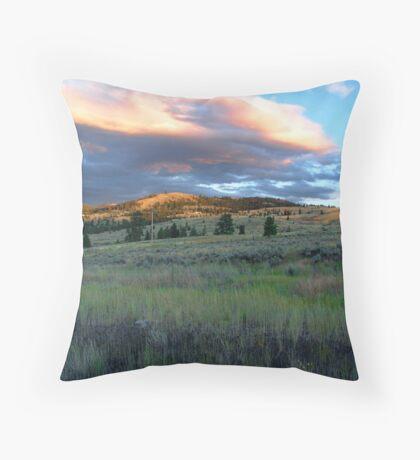 Evening Near Kamloops Throw Pillow