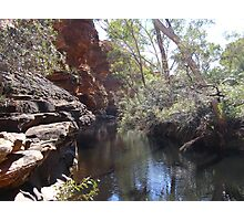 The Waterway! Garden of Eden, Kings Canyon. Nth. Territory, Australia Photographic Print