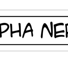 Alpha nerd Sticker
