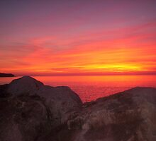 Sunset At Halls Harbour by Atlantic Dreams