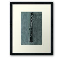 Oboe Charcoal Drawing Framed Print