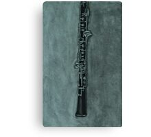 Oboe Charcoal Drawing Canvas Print