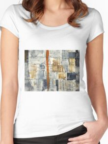 Blue abstract Women's Fitted Scoop T-Shirt
