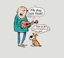 My dog has fleas - Ukulele cartoon Unisex T-Shirt