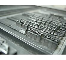 Typesetting Photographic Print