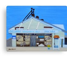 Woolwich St Deli Canvas Print