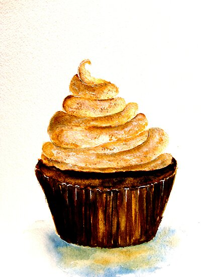 Delicious..Chocolate Cupcake with Mocha Swirl by © Janis Zroback