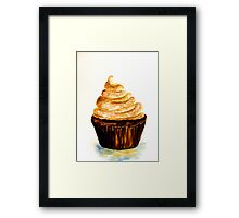 Delicious..Chocolate Cupcake with Mocha Swirl Framed Print