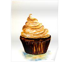 Delicious..Chocolate Cupcake with Mocha Swirl Poster
