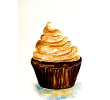 Delicious..Chocolate Cupcake with Mocha Swirl Photographic Print