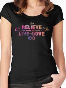Heart of Omega Part 2 | BIYDLIL Sir Douglas Fresh Slogan Shirt Women's Fitted Scoop T-Shirt