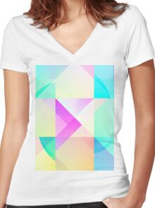 Pastel Love Women's Fitted V-Neck T-Shirt