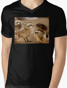 This Eyeliner is Great - Baby Chicks Mens V-Neck T-Shirt