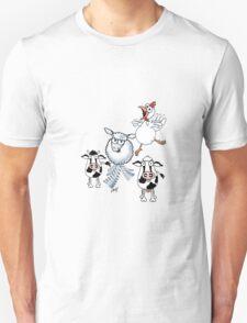 Humorous cartoon farm animals T-Shirt