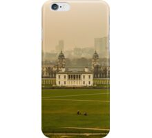 A Winter Afternoon at Greenwich - View of Queen's House and Canary Warf, England iPhone Case/Skin