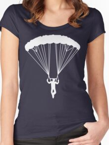 skydive silhouette Women's Fitted Scoop T-Shirt