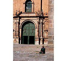 At Plaza des Armes, Cusco Photographic Print