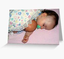 Sleeping Babies Greeting Card
