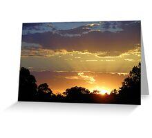 Sunset over Ballan! Greeting Card