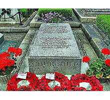 WINSTON CHURCHILL'S GRAVE Photographic Print