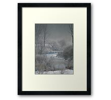 Freezing Fog Framed Print