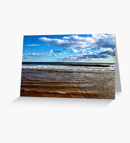 Blue Sky Beach Greeting Card
