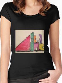 Dreamers Building Blocks  Women's Fitted Scoop T-Shirt