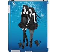 """""""Courtney and Laura: two cat girls"""" iPad Case/Skin"""