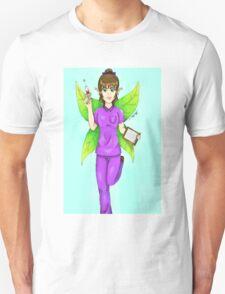 Fairy Nurse (Blue Background) T-Shirt