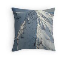 Mt. Rainier from the air Throw Pillow