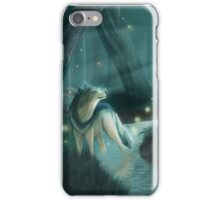 Wolf and Fireflies iPhone Case/Skin