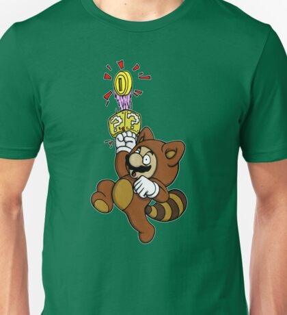 Tanooki Mario Ba-ding! Unisex T-Shirt