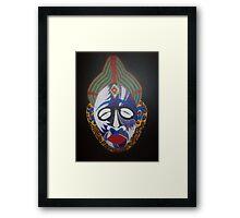 first of 5 AFRICAN PUNU MASK......24x30 Framed Print