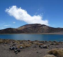 The Blue Lake, Tongariro Crossing by Virginiaen