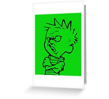 calvin and hobbes: eeeewwww Greeting Card