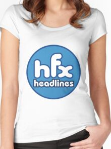 HFX Headlines - Fake Fashion Is In Women's Fitted Scoop T-Shirt