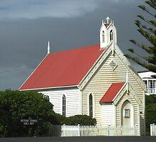 Country Church George Town Tasmania Australia by sandysartstudio