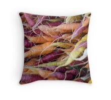 Multi-coloured Carrots Throw Pillow