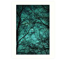 Beautiful Darkness - Half-Moon in the Trees Art Print