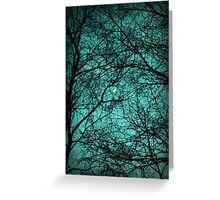 Beautiful Darkness - Half-Moon in the Trees Greeting Card