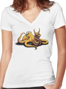 Hard Roctopus Women's Fitted V-Neck T-Shirt