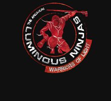 Luminous Ninjas - On Red (Textured) Unisex T-Shirt