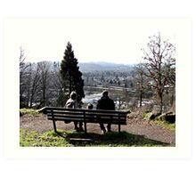 Park Bench On Top of the Butte Art Print