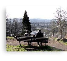 Park Bench On Top of the Butte Metal Print