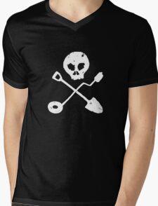 Detectorist Skull - Sondengaenger Schaedel  Mens V-Neck T-Shirt