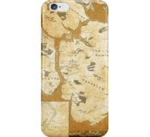 Fantasy Map of New York City: Gold Parchment iPhone Case/Skin