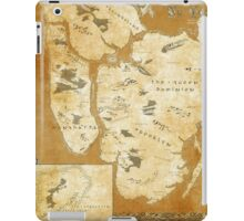 Fantasy Map of New York City: Gold Parchment iPad Case/Skin