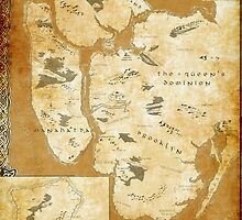 Fantasy Map of New York City: Gold Parchment by MidgardMaps