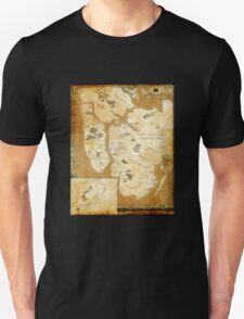 Fantasy Map of New York City: Gold Parchment Unisex T-Shirt