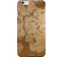 Fantasy Map of New York City: Gritty Parchment iPhone Case/Skin